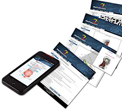 screenshots of human anatomy learning software application