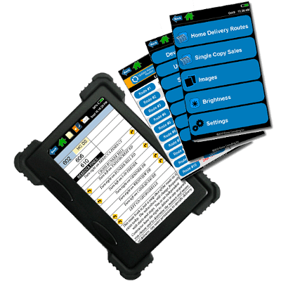 screenshot of newspaper route management software